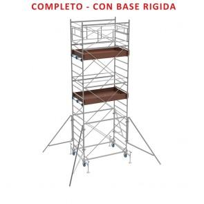 Trabattello FRIGERIO Poker 02 Ponteggio Professionale Zincato Base 160x80 Altezza 351cm Con Base Rigida