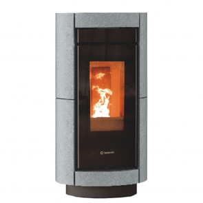 Stufa a Legna Canalizzabile Thermorossi DORICA WOOD HP Stone 9,8kW ad alta efficienza