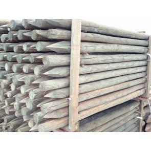 Palo di legno pino 8/10 x300 scortecciati per steccati recinzioni