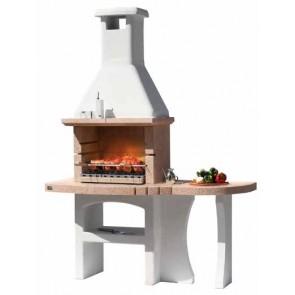 Barbecue in Muratura Carbonella e Legno BBQ SUNDAY DUBAI BIO CRYSTAL