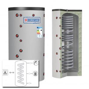 Termoaccumulatore Cordivari  ECO COMBI 1 VB 500 a 2000 RIGIDA scambiatore corrugato acciaio inox