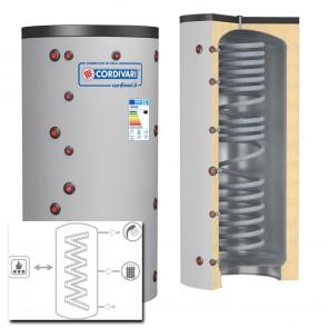Cordivari Termoaccumulatore ECO COMBI 1 VC 800 a 2000 MORBIDA scambiatore corrugato acciaio inox