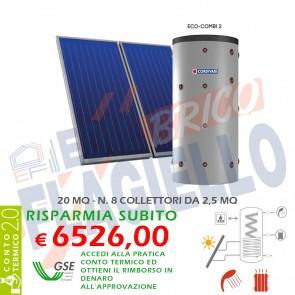 Pannello solare CORDIVARI ECO COMBI 2 1500 8X2,5 MQ CIRCOLAZIONE FORZATA
