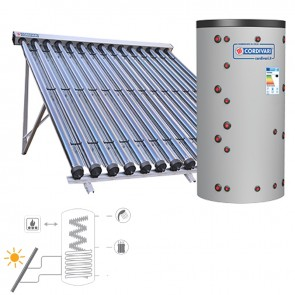 Pannello Solare Cordivari ECO COMBI 2 DOMUS CVT 200 1x15 Collettori Sottovuoto per Sanitaria