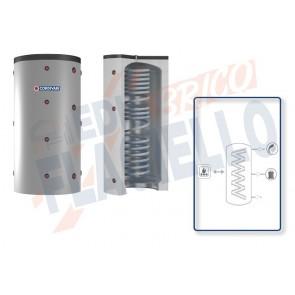 Cordivari Termoaccumulatore Eco-Combi 1 Domus VB da 200 a 300 per accumulo di Acqua di Riscaldamento e produzione di Acqua Calda Sanitaria in Serpentino Currogato in Acciaio Inox 316L a Coibentazione Rigida