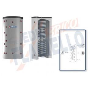 Cordivari Termoaccumulatore Eco-Combi 1 VC da 800 a 2000 per accumulo di Acqua di Riscaldamento e produzione di Acqua Calda Sanitaria in Serpentino Currogato in Acciaio Inox 316L a Coibentazione Rigida
