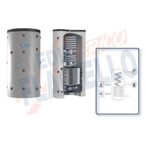 Cordivari Termoaccumulatore Eco-Combi 2 Domus VB da 200 a 300 per accumulo di Acqua di Riscaldamento e produzione di Acqua Calda Sanitaria in Serpentino Currogato in Acciaio Inox 316L con 1 Scambiatore Fisso a Coibentazione Rigida