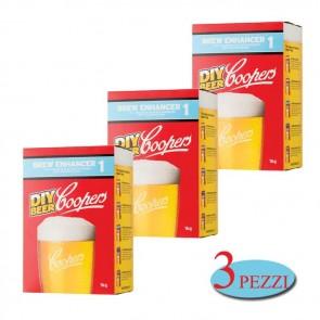 Intensificatore Coopers Brew Enhancer 1 birra artigianale 3 PEZZI da 1kg schiuma corposit