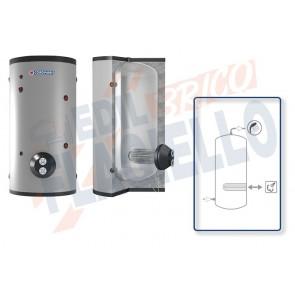 Cordivari Bollitore Polywarm Extra 1 Vapore WXC da 500 a 5000 con 1 Scambiatore Estraibile in Acciaio INOX 316L per produzione di Acqua Calda Sanitaria a Coibentazione Morbida Smontabile
