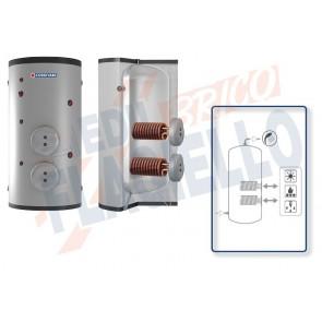 Cordivari Bollitore Polywarm Extra 2 Plus WRB da 200 a 2000 con 2 Scambiatori Estraibili in Rame Alettato Stagnato per produzione di Acqua Calda Sanitaria a Coibentazione Rigida