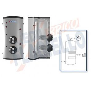 Cordivari Bollitore Polywarm Extra 2 Vapore WXC da 3000 a 5000 con 2 Scambiatori Estraibili in Acciaio INOX 316L per produzione di Acqua Calda Sanitaria a Coibentazione Morbida Smontabile