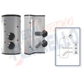 Cordivari Bollitore Polywarm Extra 2 WXB da 200 a 2000 con 2 Scambiatori Estraibili in Acciaio INOX 316L per produzione di Acqua Calda Sanitaria a Coibentazione Rigida