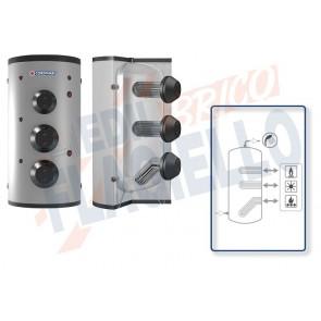 Cordivari Bollitore Polywarm Extra 3 WXC da 1500 a 5000 con 3 Scambiatori Estraibili in Acciaio INOX 316L per produzione di Acqua Calda Sanitaria a Coibentazione Morbida Smontabile