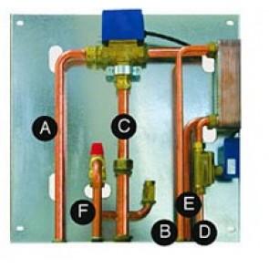 KIT 4 - Kit installazione Termostufa, Caldaia e Termocamino a Pellet Unica Fonte Calore con Produzione Istantanea di Acqua Sanitaria