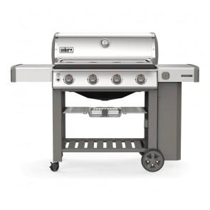 Weber Barbecue a Gas GPL Genesis II S-410 GBS con 4 Bruciatori e 2 Ripiani Laterali