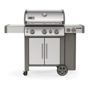 Weber Barbecue a Gas GPL Genesis II SP-335 GBS con 3 Bruciatori + Bruciatore e Ripiano Laterale