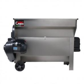Diraspatrice Vasca e Pompa Q.20 Apribile Inox con Rialzo GRIFO DVEP20i Griglia Inox Motore 2HP