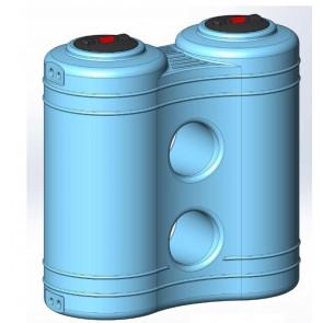 Serbatoio da esterno polietilene stoccaggio acqua JOLLY Rototec litri 2000