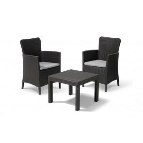 Tavolo e Sedie da Esterno KETER Salvador Balcony Set Antracite per terrazzi e balconi 219451