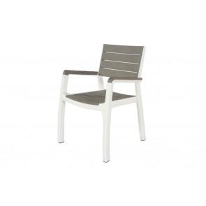 Sedia da Esterno per Giardino KETER Harmony Armchair Crema con braccioli 59x60x86h
