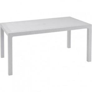 Tavolo da Esterno per Giardino KETER MELODY TABLE White Bianco per 6 persone