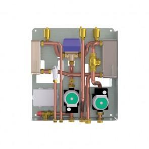KIT B - Kit Installazione Termostufa o Termocamino a Legna Abbinato a Caldaia a Gas con produzione Istantanea Acqua Sanitaria + Circolatore Circuito Secondario