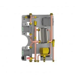 KIT V - Kit Installazione Termostufa o Termocamino Avbbinato a Caldaia a Gas con Produzione Istantanea Acqua Sanitaria