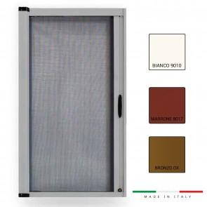 Zanzariera a Molla Laterale Riducibile ZANFLA Larghezza 150 e 160 Altezza 250 per finestra e portafinestra
