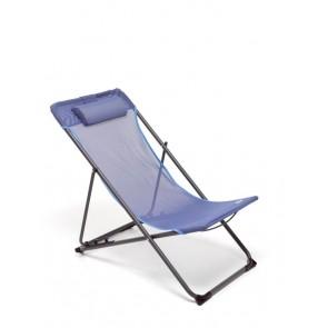 Sdraio da Giardino Relax 3 Posizioni in Ferro Verniciato Windy Blu M0589-02 Piscina