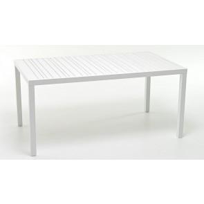 Tavolo da Pranzo in Alluminio Atlanta 160x90cm Bianco M0951-08