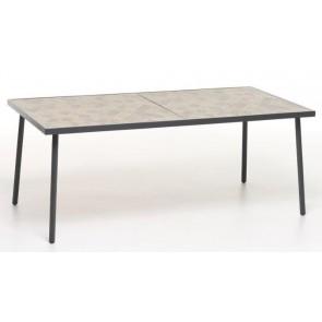 Tavolo in Ferro Verniciato Gres 186x92cm Antracite M0976-38