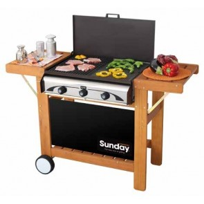 Barbeque a GAS-GRILL SUNDAY MASTER 3 W INOX