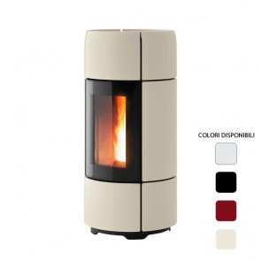 Stufa a Pellet ad Aria 8 kW MCZ CURVE Comfort Air Canalizzabile