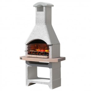 Barbecue in muratura a carbonella Sunday Grill MCZ MERIDA griglia 67x40