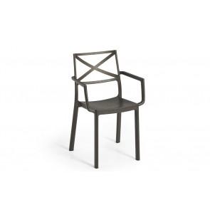 Sedia da Esterno per Giardino KETER Metalix Chair IRON in plastica effetto ferro