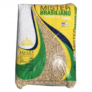 Pellet per Stufe Mister Brasiliano €4,90 in sacchi da 15kg  - pedana da 84 sacchi