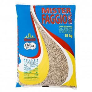 Pellet per Stufe Mister Faggio in sacchi da 15kg  - pedana da 90 sacchi