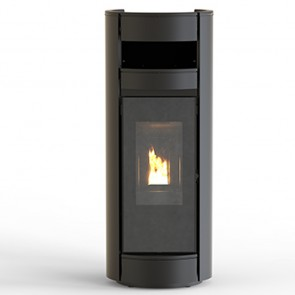 Stufa a Pellet Canalizabile Thermorossi Moma Supreme Natural PLUS 14,4kW Nero Opaco