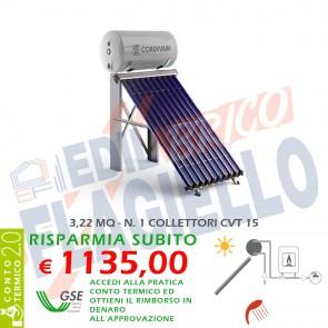 Pannello solare CORDIVARI Natural EVO CVT 200 1X15 CIRCOLAZIONE NATURALE SANITARIA PIANO