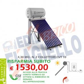 Pannello solare CORDIVARI Natural EVO CVT 300 2X10 CIRCOLAZIONE NATURALE SANITARIA PIANO