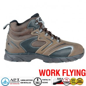 Scarpa da Lavoro Antinfortunistica Cofra NEW FITNESS BROWN S3 SRC taglie 40 - 47
