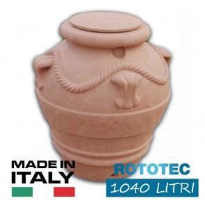 Serbatoio da esterno polietilene stoccaggio acqua ORCIO ORCIOTTO Rototec litri 1040 cisterna