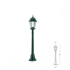 Palo Basso Art. 971/32 Nero/Verde h.120