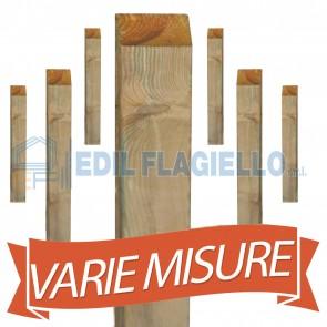 Pali legno pino tornito quadrati staccionata steccato 7x7 o 9x9 lung. 300 o 210