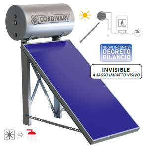 Pannello Termico Solare Cordivari PANAREA LOW da 150LT 2MQ Circolazione NaturaleTetto Piano Inclinazione 25°