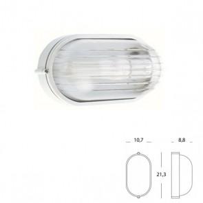 Plafoniera Ovale Piccola Art. 700/02 Nero/Bianco