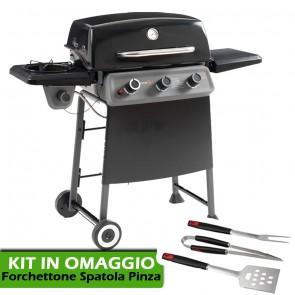 Barbecue a Gas con Sistema di Cottura Australiano Sochef Diablo X G32013 + OMAGGIO KIT BBQ