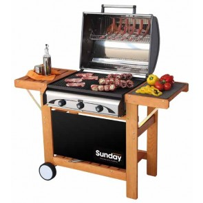 Barbeque a GAS-GRILL SUNDAY PROFY3 WOODY INOX30MB