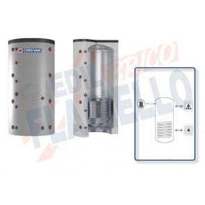 Cordivari Termoaccumulatore Puffer 1 VB 750 a 1000 per Acqua di Riscaldamento con 1 Scambiatore Fisso in Acciaio al Carbonio a Coibentazione Rigida Smontabile