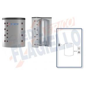 Cordivari Termoaccumulatore Puffer Compact VC da 2500 a 8000 per Acqua di Riscaldamento a Coibentazione Morbida Smontabile per Locali con Altezza Ridotta
